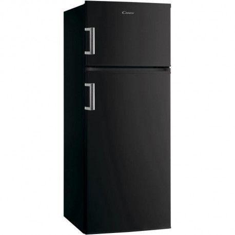 CANDY CMDDS5142BH - Refrigerateur congelateur haut - 207 L 166 + 41 L - Froid statique - A+ - L 55 x H 143 cm - Noir