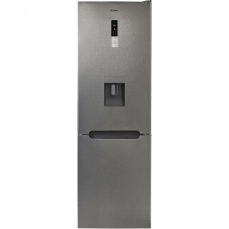 Candy CMNV6182XWD Refrigerateur congelateur bas - 317 L 223+94 - Froid ventile - A+ - L 59,5 x H 185,5 cm - Inox