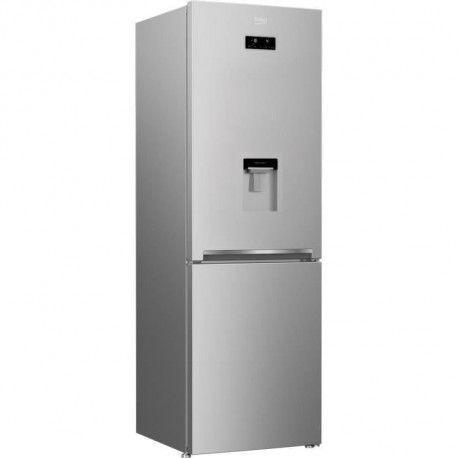 BEKO CRCNA278E20DS Refrigerateur congelateur bas - 278 L 188+90 - Total no Frost - Classe A+ - L 60 x H 185 cm - Gris