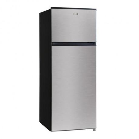 FRIGELUX Refrigerateur - RFDP212A++VCM - Double porte 204 L - Froid Statique - Classe A++ - Noir et inox