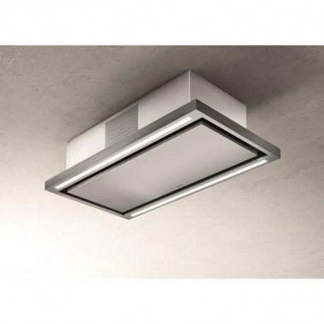 ELICA PRF0141953 - Hotte de plafond Cloud seven IX / F / 90 - Recyclage - 760 m3 air / h max - 3 vitesses - L 90 cm - Inox