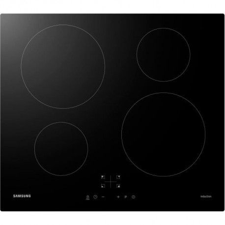 SAMSUNG NZ64M3NM1BB/UR Table de cuisson induction - 4 zones - 7200 W - L59 x P57 cm - Revetement verre - Noir