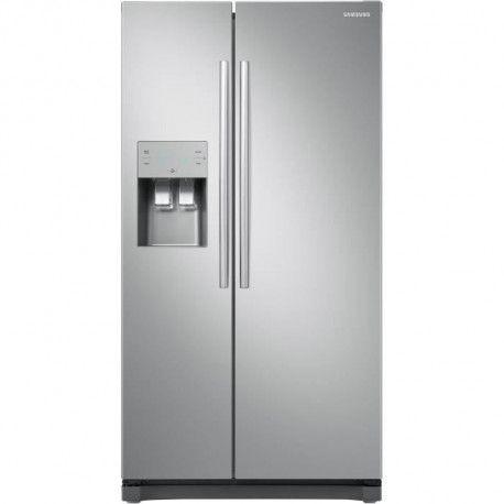 SAMSUNG RS50N3403SA - Refrigerateur americain - 501 L 357 + 144 L - Froid ventile multiflow - A+ - L 91,2 x H 178,9 cm - Inox