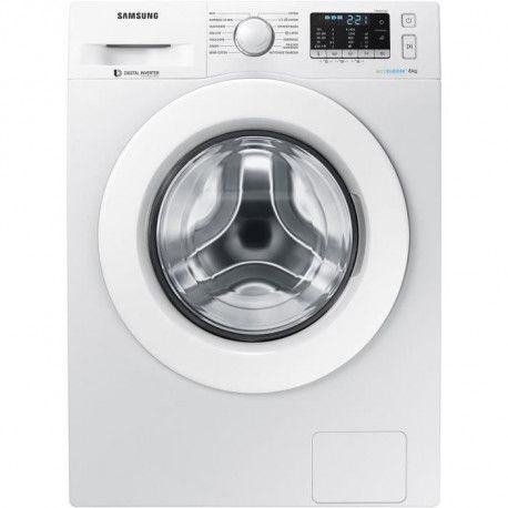 SAMSUNG WW80J5455MW - Lave linge frontal 8kg - 1400 tours / min - A+++ - Moteur induction digital inverter - Eco bubble - Blanc