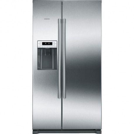 SIEMENS KA90DVI20 - Refrigerateur americain - 533L 370+157 - Froid ventile - A+ - L 91cm x H 177cm - Inox