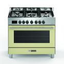 BOMPANI BTECH90CR Piano de cuisson gaz - 5 foyers - Four electrique - Catalyse - Creme