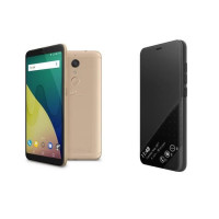Wiko View XL Or + Smart Folio offert