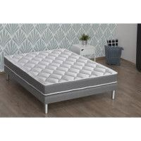 CONFORT DESIGN Matelas 140 x 190 - Mousse memoire et mousse HR - 19 cm - Mi-ferme - HERO