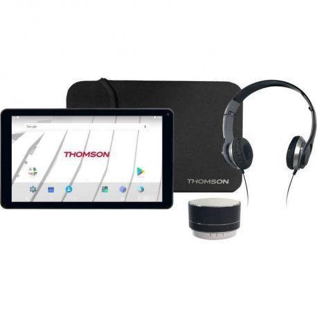 THOMSON Tablette TEO10 + Casque + Enceinte Bluetooth + Housse - Ecran 10,1 - 32 Gb eMMC - Android 7.1 - Noir