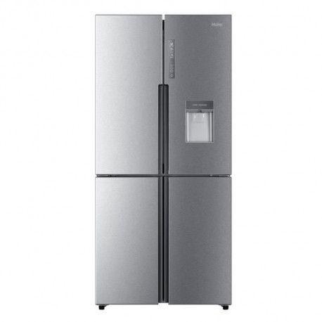 HAIER HTF-456WM6 - Refrigerateur multi portes avec distributeur deau - 456 L - Froid ventile - A+ - L 83.3 cm - Silver