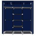Herzberg HG-8011: Armoire de rangement - Moyenne Bleu