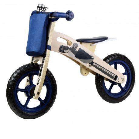 Kinderline Kinderline WBC726.1: Vélo d'équilibre en bois Bleu