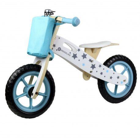 Kinderline Kinderline WBC726.1: Vélo d'équilibre en bois Turquoise