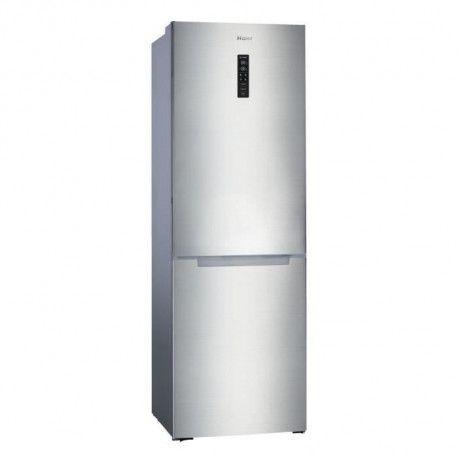HAIER HBM-686XNF - Refrigerateur combine congelateur bas - 317 L - Froid ventile No Frost - A+ - L 60 cm - Simili inox