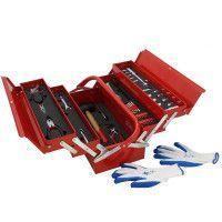 Mannsberger 808.606: Ensemble d'outils de 121 pièces avec boîte à outils à cinq compartiments en porte-à-faux