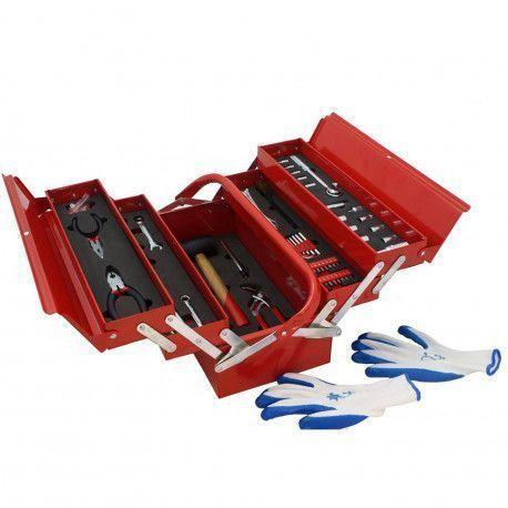 Mannsberger Mannsberger 808.606: Ensemble d'outils de 121 pièces avec boîte à outils à cinq compartiments en porte-à-faux