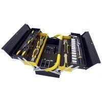 Manssberger 808.605: Ensemble d'outils de 58 pièces avec boîte à outils à cinq compartiments en porte-à-faux
