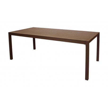 Table A Manger SARANA 200 en ALUMINIUM BRONZE MARRON