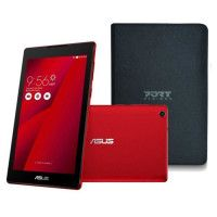 ASUS Tablette Tactile ZenPad Z170C rouge - 7 IPS - 1Go RAM - Android 5.0 - Intel Atom - ROM 16Go - WiFi/Bluetooth + etui offert