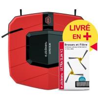 EZIclean Ultra Slim Red V2, Aspirateur Robot Ultra-fin
