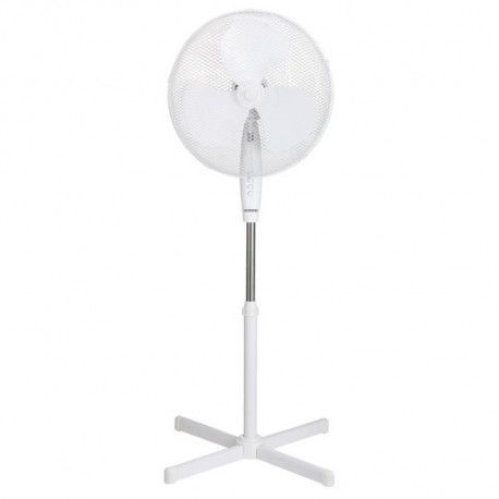 OCEANIC Ventilateur sur pied 45 Watts - Diametre 40 cm - Hauteur reglable - Oscillation - Blanc