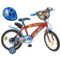 PATPATROUILLE Velo 16 + Casque - Enfant - Rouge et bleu