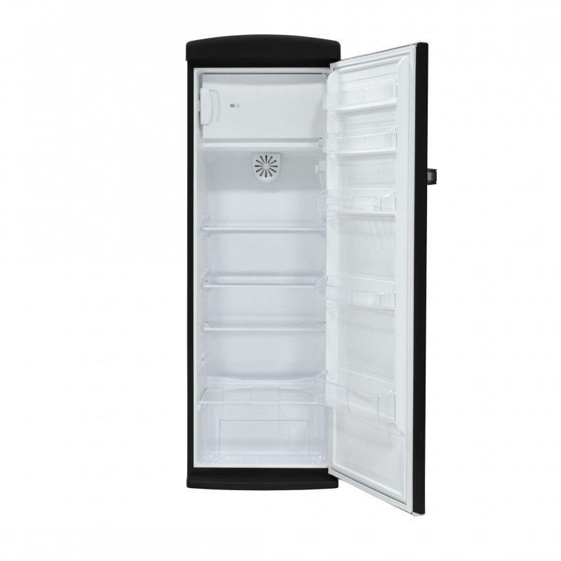 Telefunken tfnvin311blk r frig rateur 1 porte vintage noir for Refrigerateur 1 porte