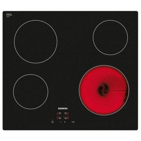 SIEMENS ET611HE17E Plaque vitrocéramique - 4 foyers - Touches sensitives - Noir