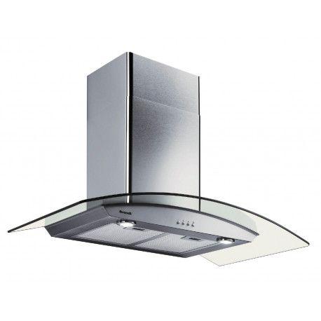 BRANDT AD1070X Hotte décorative - 64 dB - Evacuation ou recyclage - Inox / Verre