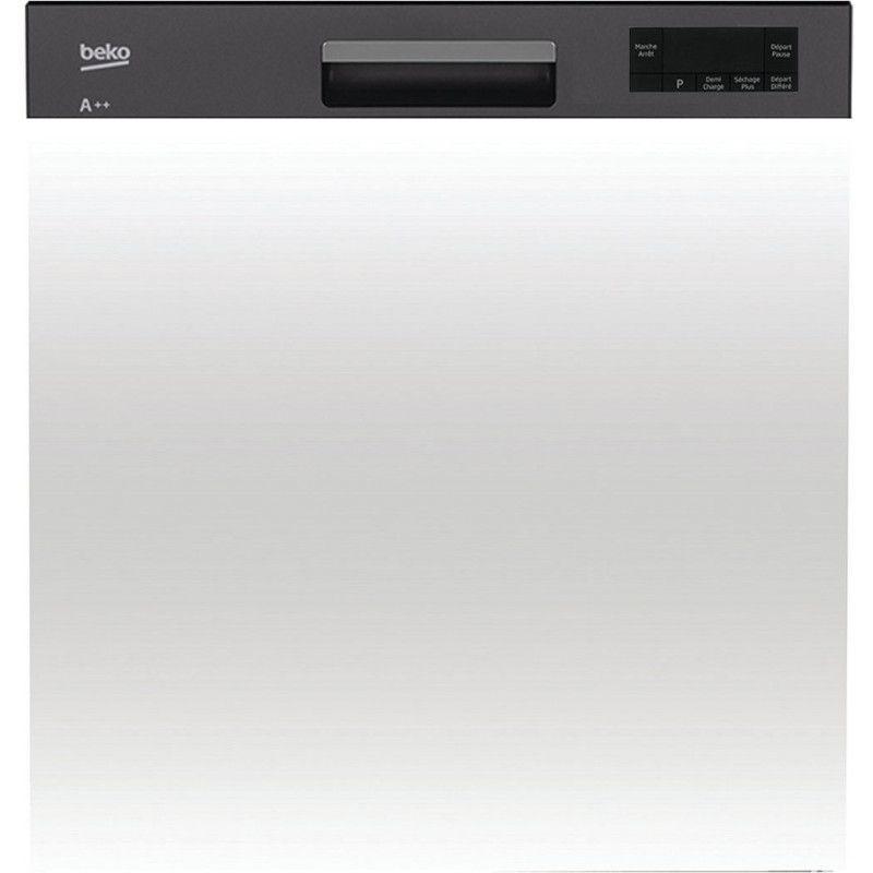Beko pdsn15310b lave vaisselle int grable 60 cm 13 for Refrigerateur beko noir miroir