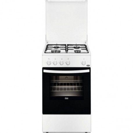 FAURE FCG510G1WA Cuisinière gaz - 61 L - Blanc