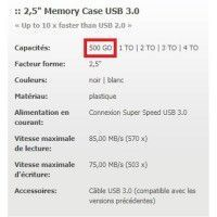 Disque dur externe intenso 500 GO usb 3.0 CABLAGE UNIVERSEL - 335885
