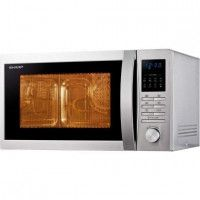 SHARP R322STW Micro-onde simple 25 L - 900 W - Inox