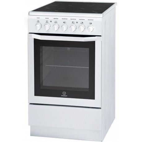 INDESIT I5VMC1AWFR Cuisinière vitrocéramiqueProgrammateur - Blanc - 57L - A