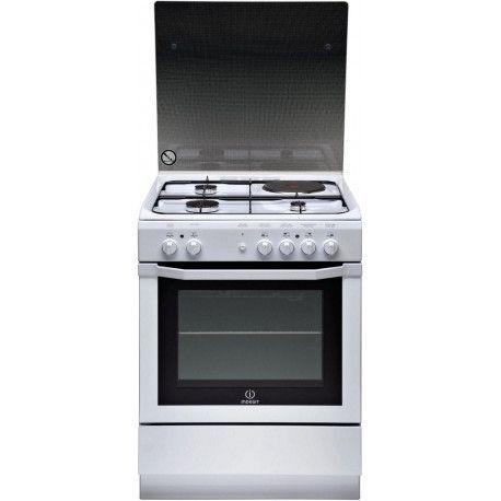 INDESIT I6MSCAGWFR Cuisinière mixteA - Electrique - 63L - Blanc