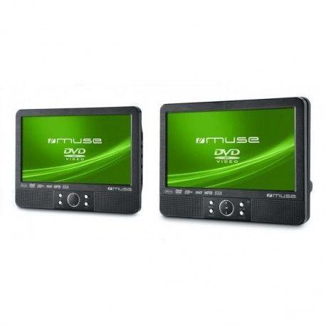 MUSE M990CVB Lecteur DVD portable - Noir - Port USB