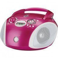 GRUNDIG RCD 1445 PI Radio CD - 2 x 1 W Puissance - CD, MP3, USB - Rose - MP3