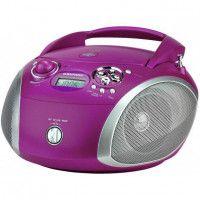 GRUNDIG RCD 1445 PU  Radio CD - 2 x 1 W Puissance - Radio, CD, MP3 - Violet - MP3