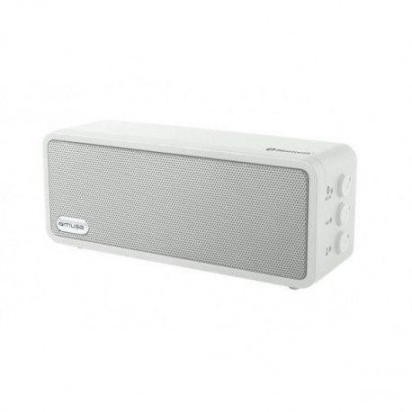 MUSE M 350 BTW Enceintes nomades - Enceinte bluetooth portable - 6 W - Blanc - USB - Batterie intégrée