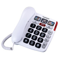 TELEPHONE GROSSE TOUCHE FILAIRE BLANC THOMSON - TH520FWHT