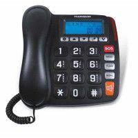 TELEPHONE GROSSE TOUCHE FILAIRE AVEC ECRAN NOIR THOMSON - TH525FBLK