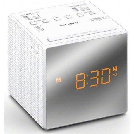 SONY ICFC 1 TW Réveil radio - Double - Numérique - Blanc - Sauvegarde par pile(s)
