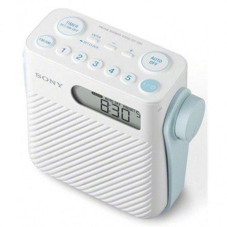 SONY ICFS 80 Radio - Numérique - FM/AM - Blanc
