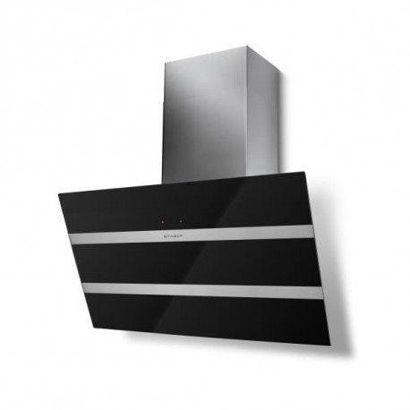 Faber Hotte verticale inclinée STEELMAX 800mm inox/verre noir - classe B - dé FABER - 5513357