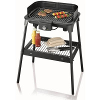 BARBECUE GRIL SUR PIEDS 2500W PARE VENT CORPS EMAILLE 41X26CM SEVERIN - 8548
