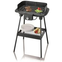 BARBECUE GRIL SUR PIEDS 2300W PARE VENT CORPS EMAILLE 37X23CM SEVERIN - 8551