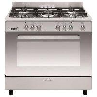 Cuisinière e-Cooker 90 x 60 cm inox - Four gaz catalyse 109 L - Gril él GLEM - GE960CMIX2