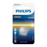 Piles BOUTON LONGLIFE 3.0V coin 1-blister (20.0 x 1.6) PHILIPS - CR2016/01B