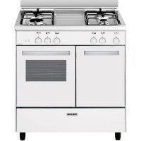 Butanette Alpha 80 x 50 cm blanche/plan de cuisson inox - Four gaz émai GLEM - GA85PMWH