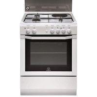 Cuisinière, Blanc, Table Mixte, 90 cm, 4 zones de cuisson, Manettes, Al INDESIT - I6M6CAG(W)/FR-NEW